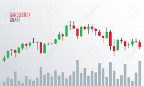 Financial Candlestick Chart Cryptocurrency Stock Exchange Market