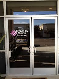 community medical community medical door lettering