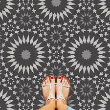 Moroccan Tile Pattern Beauteous Moroccan Stencils Tile Stencil Ambrosia For Floors And Walls
