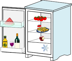 open refrigerator clipart. fridge with food jhelebrant clip art open refrigerator clipart