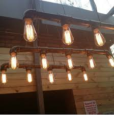 pendant bar lighting. Vintage Pendant Lights Metal Water Pipe Lamp Steampunk Lamps E27 Bulbs Warehouse Bar Lighting Counter Lamps-in From
