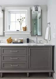 Rachel Reider Interiors Grey Bathroom Cabinets Grey Bathroom Vanity Bathroom Makeover