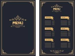 Menu Designs Restaurant Menu Design Royal Style On Dark Background Free Vector In