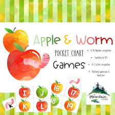 Apple Worm Pocket Chart Games