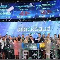 blackbaud photo of celebrating 10 years on the nasdaq blackbaud offices cambridge