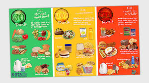 Traffic Light Food Chart Go Slow Whoa A Simple Nutrition Education Method