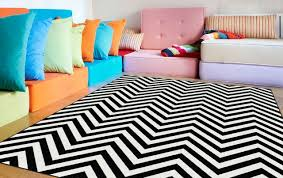 black and white striped rug 5x7