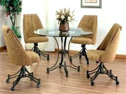 dining room chairs on wheels dining chair with casters swivel design in chairs wheels upholstered dining