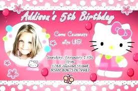 invitation card hello kitty birthday party invitations best hello kitty as invitation cards