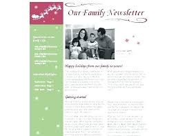 Christmas Newsletter Template Free Newsletter Templates Free