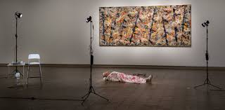 here s looking at mike parr s jackson pollock the female