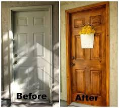 faux wood grain garage door painting ideas