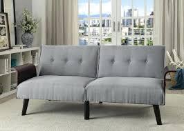 mid century futon mid century style gray linen like fabric folding futon sofa bed flynn mid century futon sofa sleeper