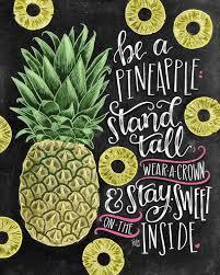 images house pineapple decor pinterest pineapple print pineapple decor chalkboard art by thewhitelime