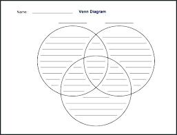 Large Printable Venn Diagram Large Venn Diagram Template With Lines Three Circle To Educate