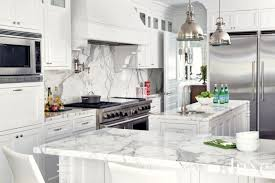 16 Ways Marble Countertops Dress Up A Kitchen White Cabinets With Marble Countertops20
