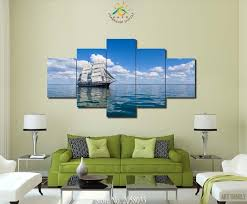 3 4 5 pieces smooth sailing modern wall art pictures hd printed canvas painting