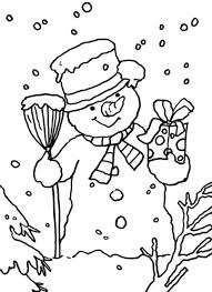 Snowman Printable Coloring Pages Free Christmas Coloring Pages ...