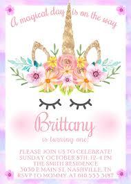 Print Out Birthday Invitations Unicorn Birthday Invitation Unicorn First Birthday Unicorn 65