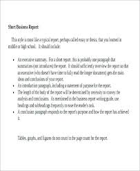 Formal Business Report Template Business Report Format