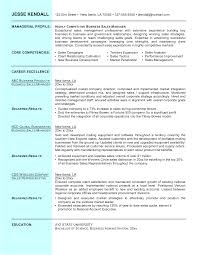 Effective Hotel Sales Manager Resume And Managerial Profile And