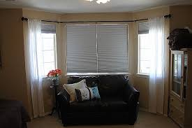 curtains ideas how to hang curtain rods for bay windows outstanding double canada interior home