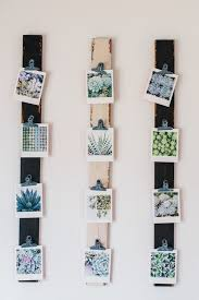 displaying square family photos