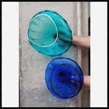 blown glass plate wall art decor zibo