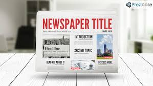 Office Newspaper Template 3d Newspaper Prezi Presentation Template Creatoz Collection