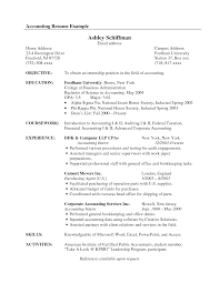 Ultimate Resume For Accounting Internship About Accounting Intern