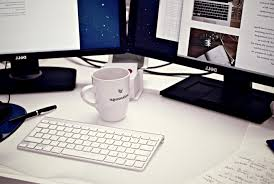 office desktop computer. Plain Desktop Coffe Cup Mug Desk Office Desktop Workspace Monitor Intended Office Desktop Computer M