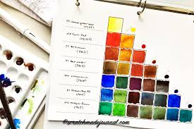 Watercolor Mixing Chart Download Creating A Watercolor Mixing Chart Plus A Printable