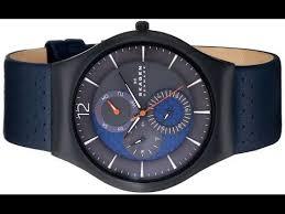 skagen men s skw6149 grenen black titanium watch leather band skagen men s skw6149 grenen black titanium watch leather band