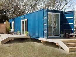 This pair of container homes in Carolina Beach, North Carolina, offers tiny  living in