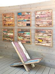 Lovely View In Gallery Wooden Strip Wall Art