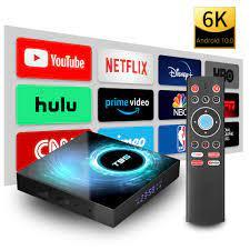 T95 Android 10 Smart TV Box 4GB RAM 32GB 64GB 16GB Android TV Box
