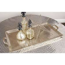 round hammered aluminum metallic silver coffee table
