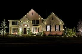 outdoor holiday lighting ideas architecture. White Lights Along The Eaves Of Three Front Gables A House -- A. Outdoor Christmas Decorations. Holiday Lighting Ideas Architecture