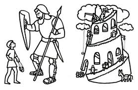 David And Goliath Coloring Pages Pdf Garagedoorrustml