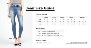 Girls Denim Size Guide Bluenotes