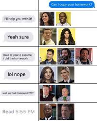 Would Brooklyn Nine Nine Characters Let You Copy Their