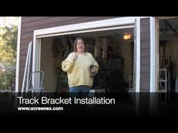 retractable garage door screensScreenEx Retractable Pull Down Garage Door Screen Installation