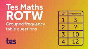 mean from a frequency table generator tes maths resource of the week