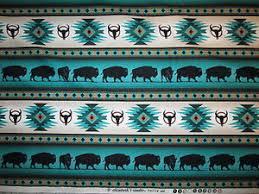navajo border designs. Image Is Loading Navajo-Native-American-Totem-Buffalo-Border-Teal-Cotton- Navajo Border Designs C