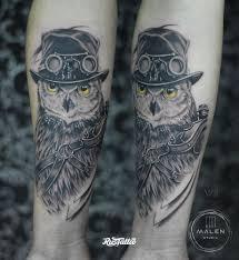 фото татуировки сова в стиле реализм черно белые татуировки на