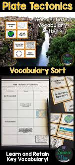 best ideas about plate tectonics geology th plate tectonics and plate boundaries vocabulary sort