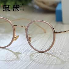 circle with myopia frame women korean style fashion vintage harajuku wind ulzzang round face big face