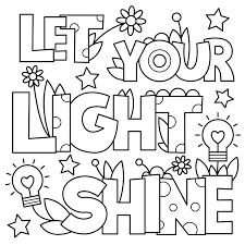 Let Your Light Shine Lds Primary Revisited Let Your Light Shine Coloring Page Free General