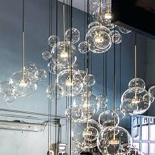 post modern lamp led pendant light clear glass bubble ball fixtures indoor lighting re