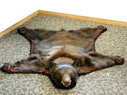 faux bear skin rug with head area beautiful round rugs patio and real fur taxidermy strikingly fake bear skin rug with head